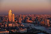 Harbour at sunset, Sumida River, Tokyo, Japan