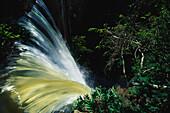 Bridal Veil Falls, Cascade, National Park Chapada dos Guimaraes, Water shed, Mato Grosso, Brasil, South America