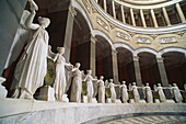 Marble statues in the Liberation Hall, Kelheim, Lower Bavaria, Germany