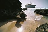 Wreck of the American Star, ship, Ajuy las Salinas, Fuerteventura, Canary Islands, Spain