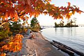 Autumn on Lake Millinocket, Maine, ,USA
