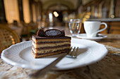 Gerbeaud Schnitte Cake at Gerbeaud Cafe, Pest, Budapest, Hungary