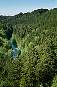 The Mangfall river anf valley near Wayern, Kayak weekend for beginners, Upper Bavaria, Germany