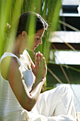 Woman meditating, Relaxation, Wellness, Health