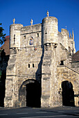 East Gate, City Wall, York, North Yorkshire, England, United Kingdom