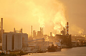 Industry in Savannah River. Georgia. USA