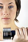 lose-up, Closeup, Color, Colour, Contemporary, Dumbbell, Dumbbells, Exercise, Exercises, Face, Faces