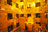 Gold, rubies, pearls, sapphires and emeralds bathroom. Hang Fung Gold Technology group. Guinness Book of Records most expensive bathroom. Hong Kong. China.