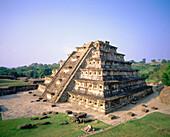 Niches Pyramid at the old city of El Tajin. Veracruz state. Mexico