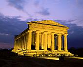 Concordia Temple. Agrigento. Sicily. Italy.