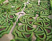 Gardens of Villandry castle. Val-de-Loire. France