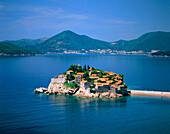 Sveti Stafan City in the Adriatic coast. Montenegro.