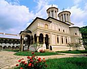 Fortified Horezu Monastery in Wallachia. Romania