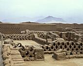 Tschudi ruins. Chan Chan, north of Trujillo, Peru.