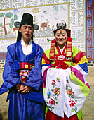 Traditional wedding outfit. Korea.
