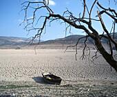 Drought. Iznájar reservoir. Spain
