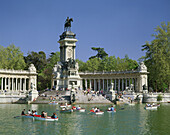 Monument to king Alfonso XII in El Retiro Park. Madrid. Spain
