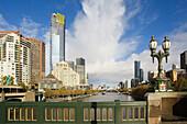 Yarra River. Eureka Tower. Melbourne City. Victoria. Australia. April 2006