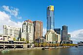 Southbank. Yarra River. Eureka Tower. Melbourne City. Victoria. Australia. April 2006