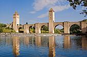 Valentré bridge. City of Cahors. Quercy. Lot. France.