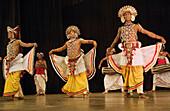 Kandy City. Kandy folk dancers. Sri Lanka. April 2007.