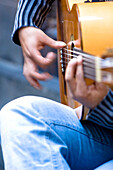 Street musician with guitar, Barcelona, Spain