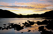 Richtersveld scene, Orange River at sunset, Richtersveld National Park, Northern Cape, South Africa