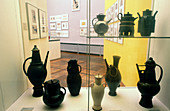 Ceramics by Theodor Bogler (1923) and Otto Lindig (1922). Bauhaus Museum. Weimar. Thuringia. Germany
