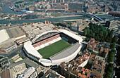 San Mamés stadium. Nervión estuary. Bilbao. Vizcaya. Spain.
