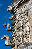 Details. The Nunnery quadrangle. Mayan ruins. Uxmal. Yucatan. Mexico.