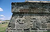 Pyramid. Serpiente emplumada . Xochicalco. Morelos. Mexico.