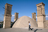 Ventilation towers. Badgirs. Yazd. Iran.