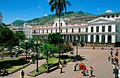 Government Palace in Indenpendencia Square. Quito. Ecuador
