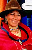 Salasaca woman. Tungurahua province. Ecuador