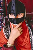 Beduin woman. Washiba Sands. Oman