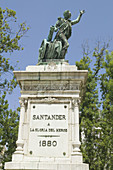 Monument to Pedro Velarde in Plaza Alfonso XIII. Santander. Cantabria. Spain.