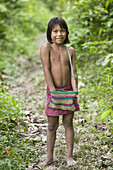 Indigenous child. Yaguas Community. Amazonas. Peru.