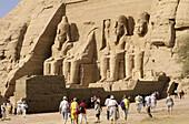 Ramses II statues. Abu Simbel. Egypt.