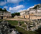 The Nunnery Quadrangle (Cuadrangulo de la Monjas) in the archeological site of Chichen Itza. Yucatan. Mexico
