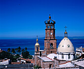 Church of Guadalulpe in Puerto Vallarta . Jalisco State. Mexico