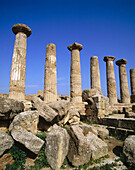 The Temple of Castor & Pollux (5th century BC), Valley of the Temples (Sicily s Oldest Tourist Site), Agrigento. Sicily, Italy