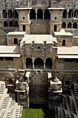 Chand Baori, one of the oldest baori (step-well). Abhaneri, Rajasthan. India