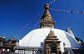 Buddhist Swayambhunath Stupa. Kathmandu. Nepal