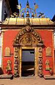 Golden Gate entrance to 17th.century 55 window palace built by King Bhupatindra Malla, Durbar Square, Bhaktapur, Katmandu Valley, Nepal