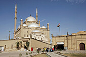 Mohammed Ali mosque (Alabaster mosque) on top of the citadel in Cairo. A landmark. Egypt