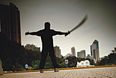 Martial art training. Hong Kong