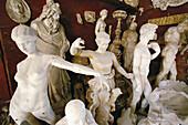 Sculptures in marble atelier. Pietrasanta. Italy