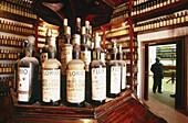 Old bottles of Marsala D.O.C. Wine. Sicily. Italy