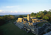 View of the Palace (UNESCO World Heritage). Palenque. Chiapas. Mexico.