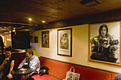 Cavern Quarter. Mathew Street. Lennon Bar, people in the interior. Liverpool. England, UK
